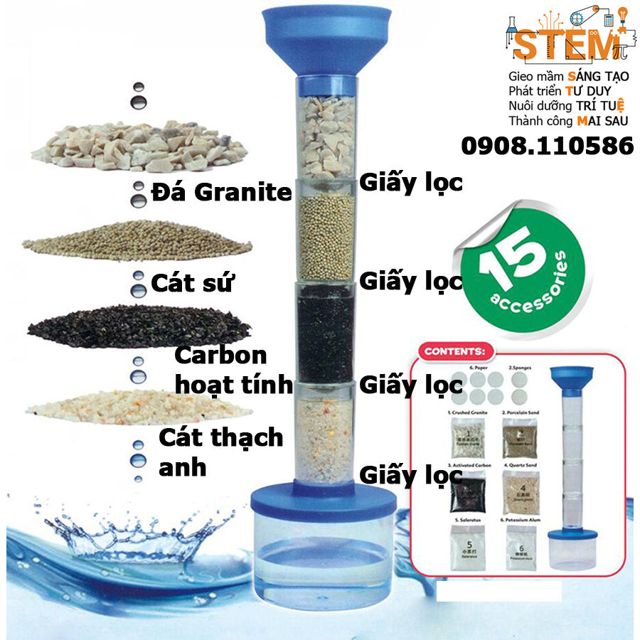 Bộ lọc nước - đồ chơi STEM - đồ chơi mô hình - đồ chơi lắp ráp