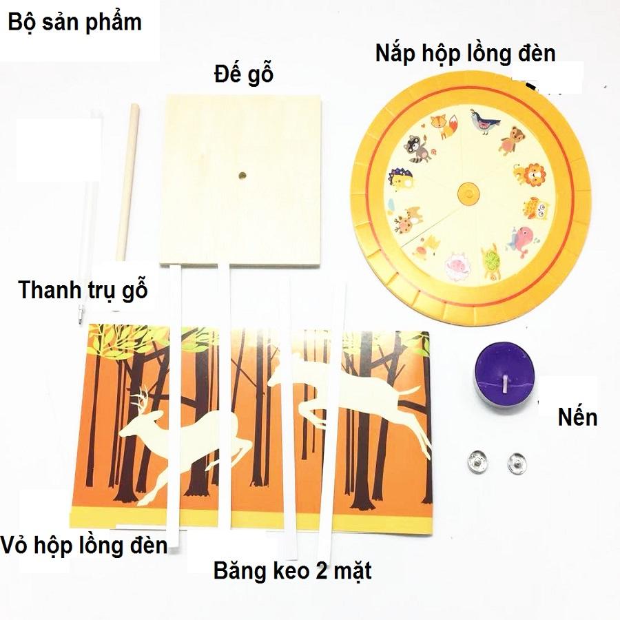 Đèn kéo quân - lồng đèn trung thu - đồ chơi STEM - đồ chơi lắp ráp