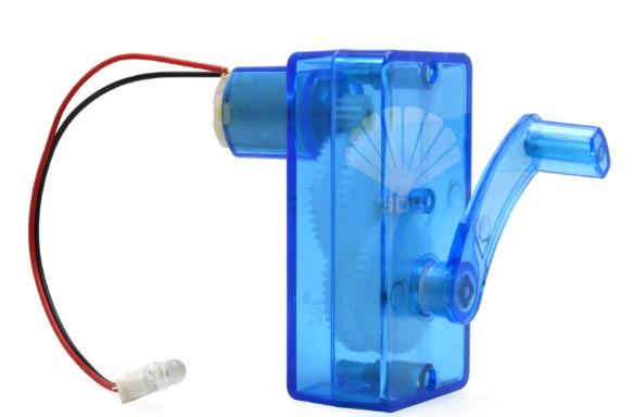 Máy phát điện quay tay- đồ chơi STEM - đồ chơi mô hình