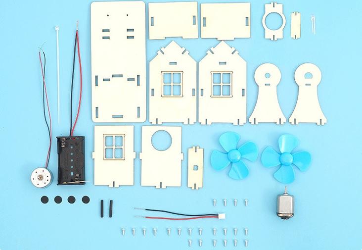 Máy phát điện bằng gió- đồ chơi STEM - đồ chơi mô hình