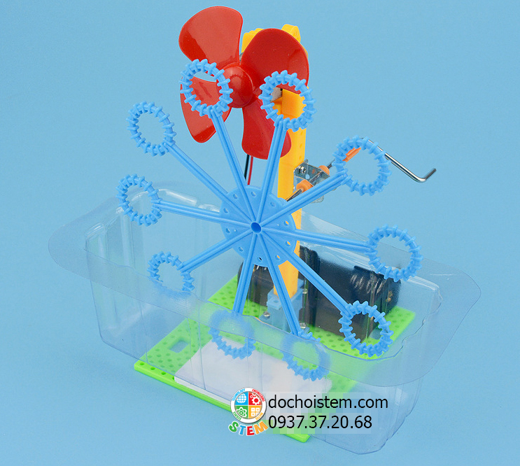 Máy tạo bong bóng - đồ chơi STEM - đồ chơi mô hình - đồ chơi lắp ráp