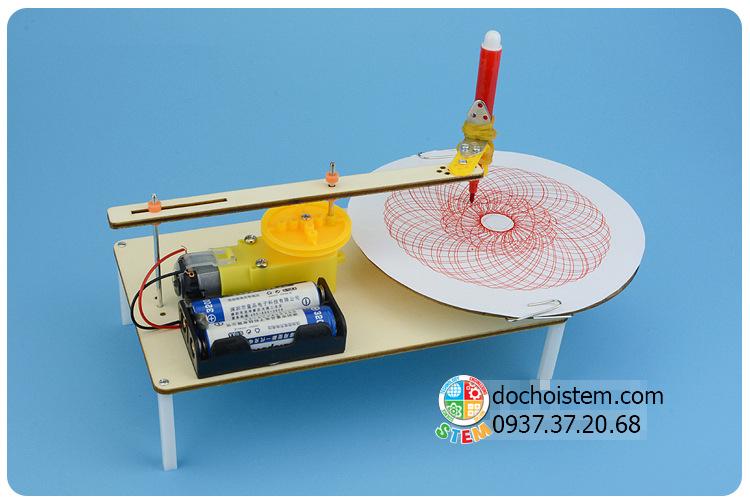 Máy tự vẽ - đồ chơi STEM - đồ chơi mô hình - đồ chơi lắp ráp