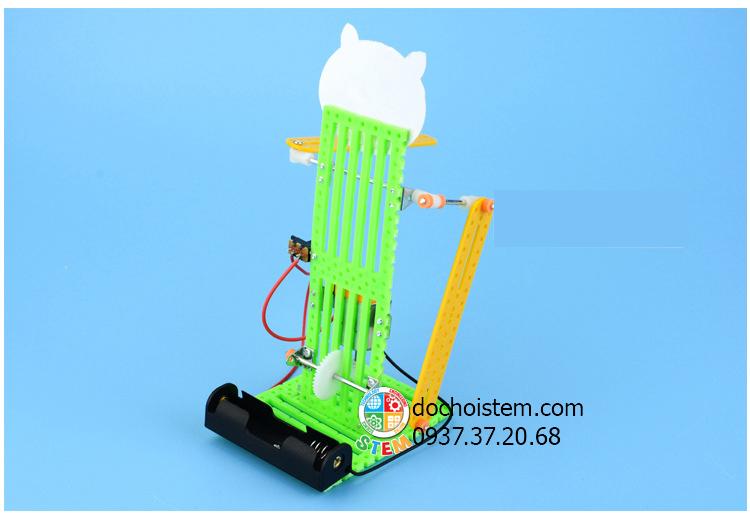 Robot mèo may mắn- đồ chơi STEM - đồ chơi thông minh - đồ chơi lắp ráp
