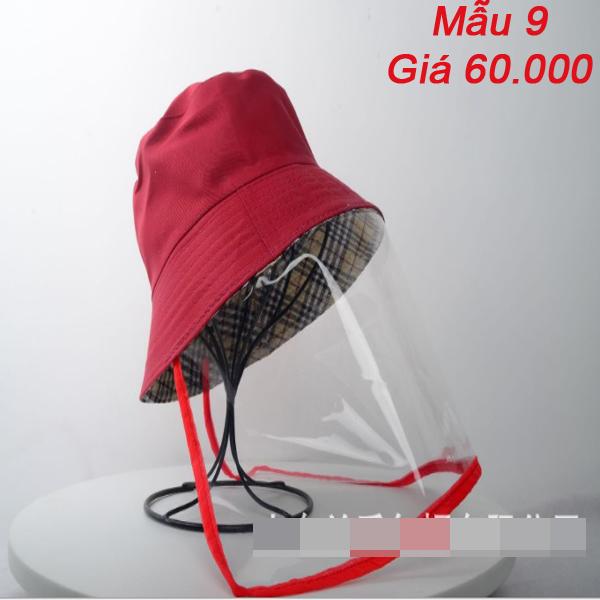 Mũ tai bèo chống dịch kèm màn chắn bảo vệ - Nón chống dịch