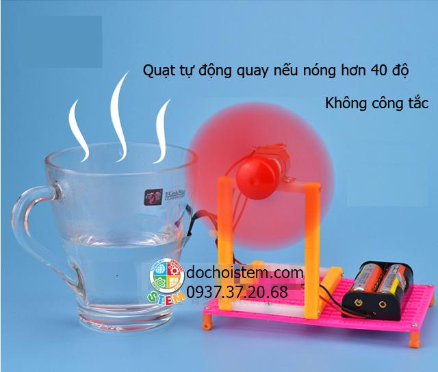 Quạt cảm ứng nhiệt độ- đồ chơi STEM - đồ chơi mô hình
