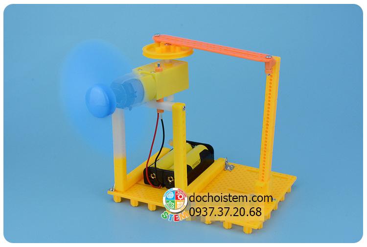 Quạt quay làm mát- đồ chơi STEM - đồ chơi mô hình - đồ chơi lắp ráp