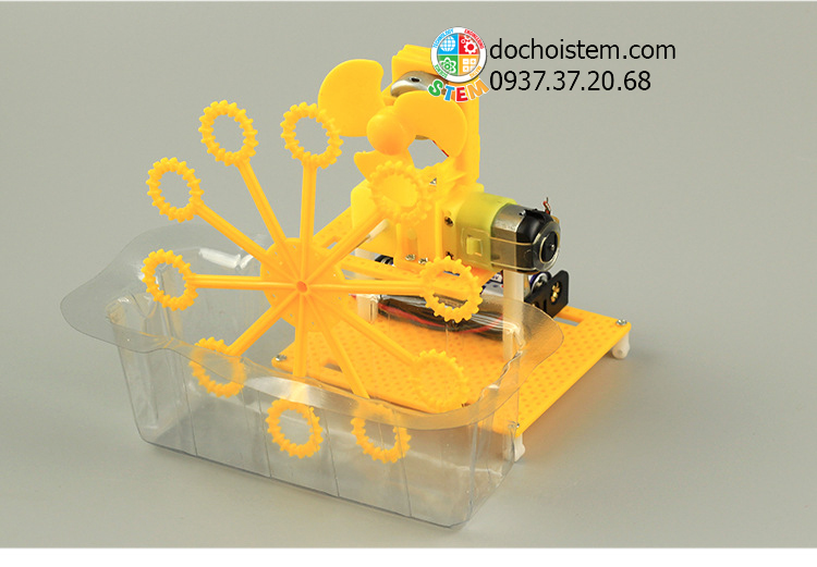 Máy thổi bong bóng - đồ chơi STEM - đồ chơi mô hình - đồ chơi lắp ráp