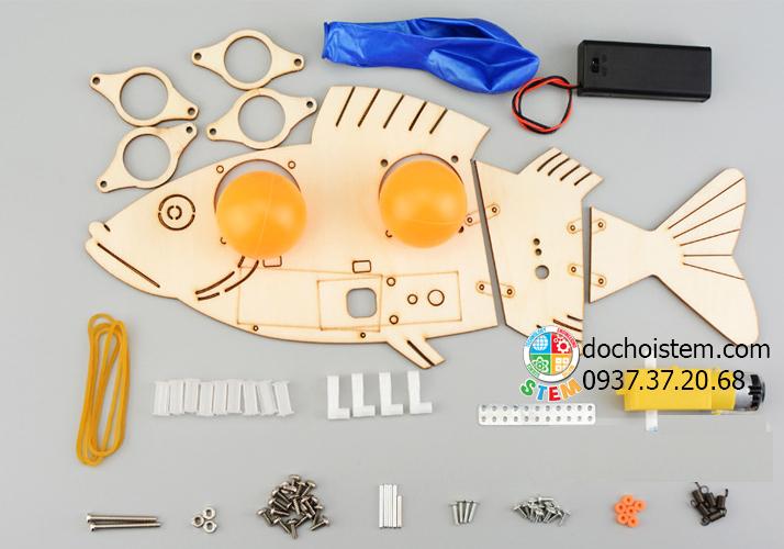 Cá cơ điện - đồ chơi STEM - đồ chơi mô hình - đồ chơi lắp ráp