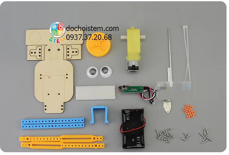 Robot cảm ứng âm thanh- đồ chơi STEM - đồ chơi mô hình