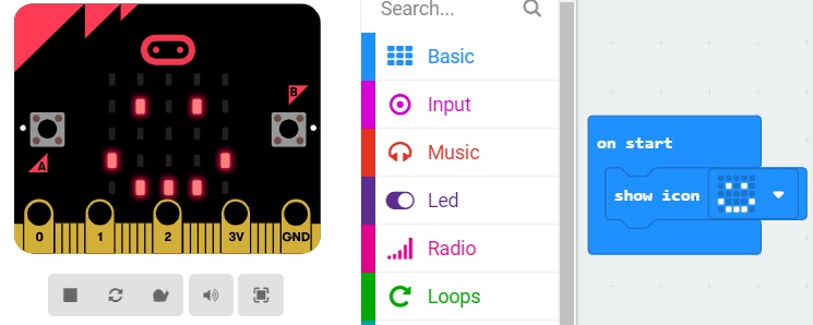 show icon bbc microbit