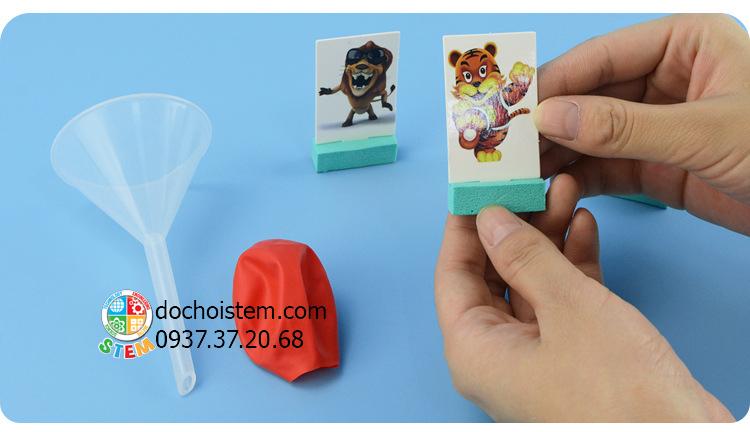 Súng hơi đơn giản- đồ chơi STEM - đồ chơi mô hình - đồ chơi lắp ráp