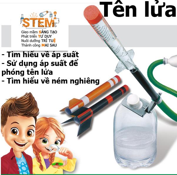 Tên lửa STEM- đồ chơi STEM - đồ chơi mô hình - đồ chơi lắp ráp