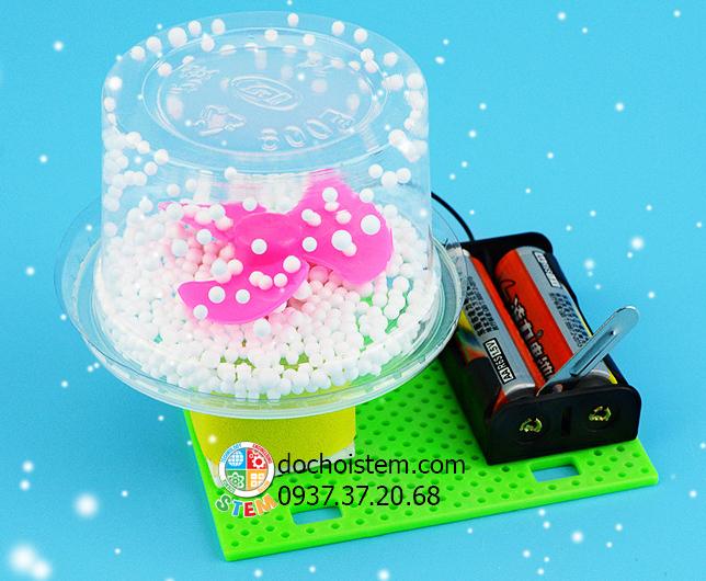 Máy thổi tuyết- đồ chơi STEM - đồ chơi mô hình - đồ chơi lắp ráp