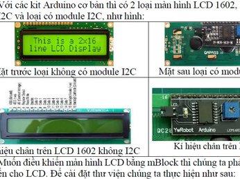 P3- Tài liệu lập trình Arduino bằng mBlock - Tự học arduino cơ bản: Màn hình LCD