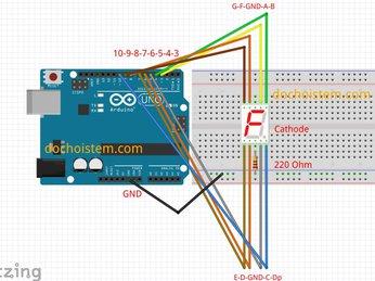 07 - LED 7 đoạn - lập trình Arduino từ cơ bản đến nâng cao