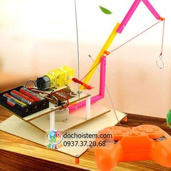 Cần trụcđiều khiển - đồ chơi STEM khoa học phát triển trí tuệ