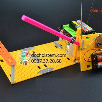 Gác cổng điều khiển- đồ chơi STEM - đồ chơi mô hình - đồ chơi lắp ráp