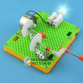 Máy phát điện quay tay- đồ chơi STEM phát triển trí tuệ