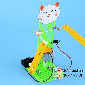 Robot mèo may mắn- đồ chơi STEM thông minh phát triển trí tuệ