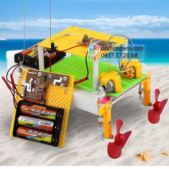 Thuyền điều khiển - đồ chơi STEM khoa học phát triển trí tuệ