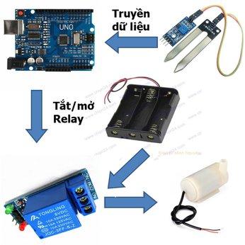 Hệ thống tưới cây tự động - đồ chơi STEM - lập trình arduino micro:bit