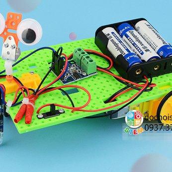 Xe cảm ứng tuần tra - đồ chơi STEM khoa học phát triển trí tuệ