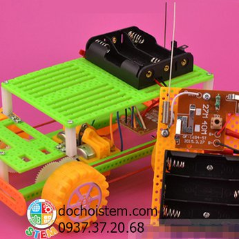 Xe hơiđiều khiển - đồ chơi STEM - đồ chơi thông minh - đồ chơi lắp ráp