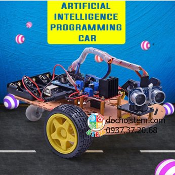 Xe cảm biến lập trình - đồ chơi STEM khoa học phát triển trí tuệ