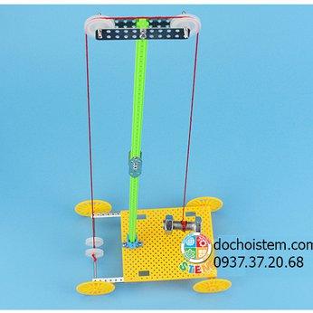 Xe ròng rọc- đồ chơi STEM - đồ chơi thông minh - đồ chơi lắp ráp