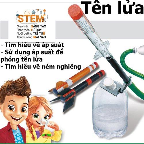 Tên lửa STEM- đồ chơi STEM - đồ chơi thông minh - đồ chơi lắp ráp