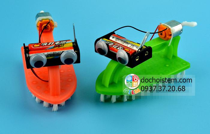 Thuyền bàn chải - đồ chơi STEM - đồ chơi mô hình - đồ chơi lắp ráp