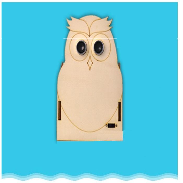 Cú mèo bảo vệ thị lực-đồ chơi STEM đồ chơi thông minh đồ chơi lắp ráp