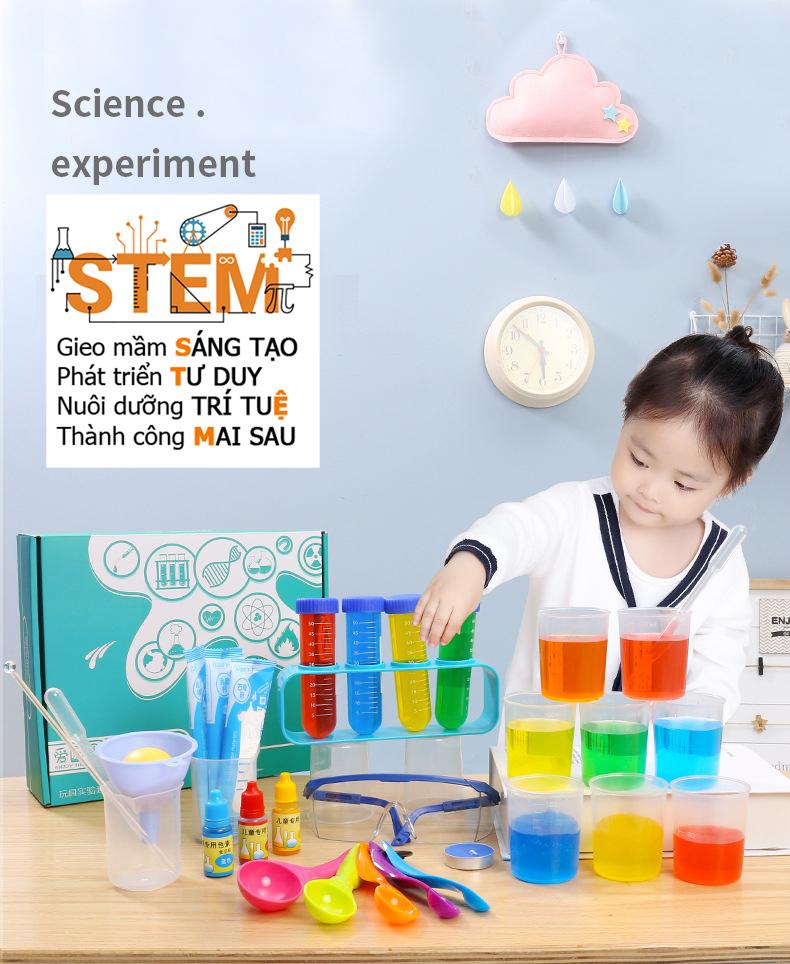 Bộ 92 thí nghiệm- đồ chơi STEM - đồ chơi thông minh - đồ chơi lắp ráp