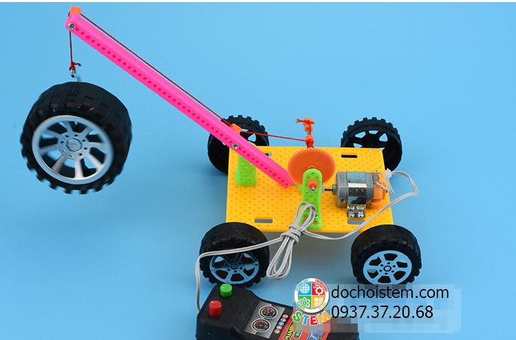Xe cần trục- đồ chơi STEM - đồ chơi mô hình - đồ chơi lắp ráp
