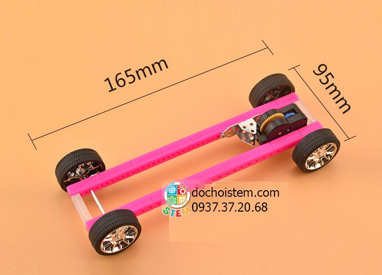 Xe đua chạy dây cót- đồ chơi STEM - đồ chơi mô hình - đồ chơi lắp ráp