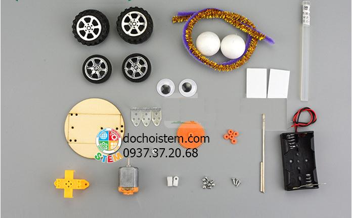 Xe lon nước ngọt -đồ chơi STEM - đồ chơi mô hình - đồ chơi lắp ráp