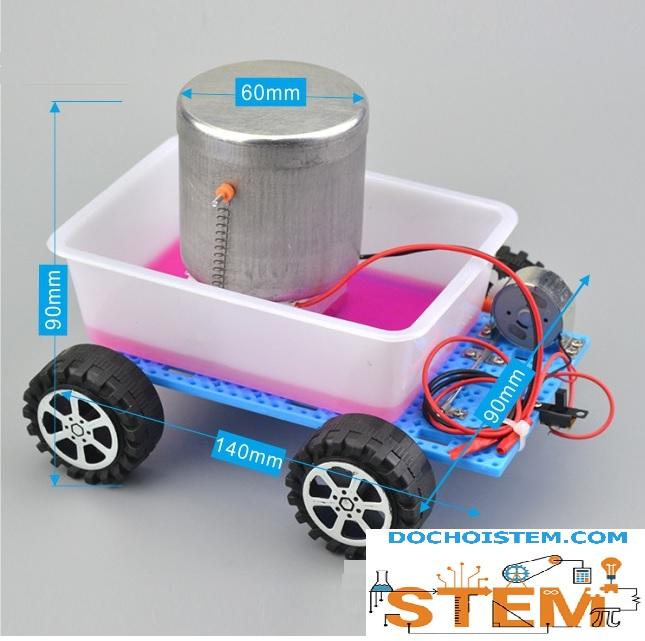 Xe nhiệt điện- đồ chơi STEM - đồ chơi thông minh - đồ chơi lắp ráp