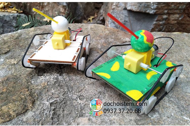 Xe tăng gỗ- đồ chơi STEM - đồ chơi mô hình - đồ chơi lắp ráp