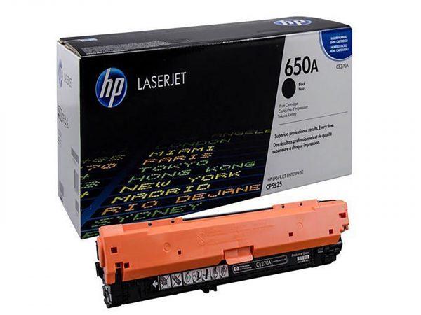 Mực in Laser màu HP 650A Black (CE270A) màu đen sử dụng cho máy LaserJet CP5520 CP5525 HP M750N HP M750DN