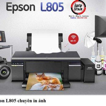 Máy in Epson L805 sử dụng mực 673 chính hãng Đồng Nam bảo vệ đầu phun