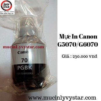 Chai mực GI-790 sử dụng cho máy in Canon Máy in Canon Pixma G5070 Máy in Canon Pixma G6070