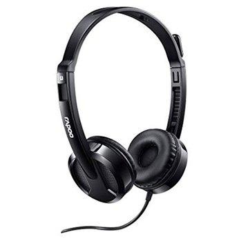 Tai nghe có dây chụp tai Rapoo H120 (Đen)