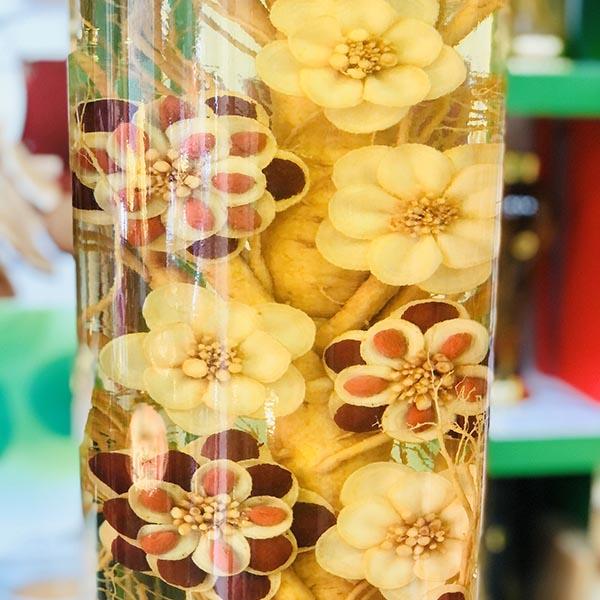 Bình Rượu Nhân Sâm Hàn Quốc | Nhân Sâm Tỉa Hoa Mai 20 Lít