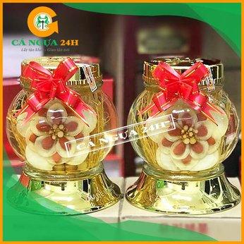Bình Rượu Hoa Sâm Hàn Quốc Kỷ Tử Táo Đỏ 1,4Lít