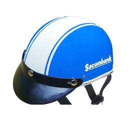 Nón bảo hiểm quảng cáo Sacombank