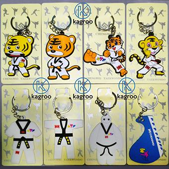Móc khóa Taekwondo (cao su, mẫu to)