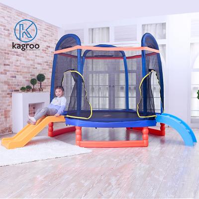 Bạt Nhún Lớn 2,13m - Chân Bọc Nhựa - Có Cầu Tuột (Big Trampoline 7ft With Plastic Legs & Slider) - KR7FT-CN-CT