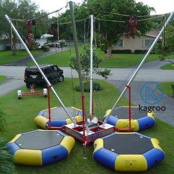 Bạt nhún hơi 4 cụm nhảy có đai lưng (Euro Jumping Bungee Inflatable Trampolines) - KR-4BIT