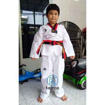 Võ Phục Taekwondo - Hiệu Adidas - Vải Sọc III