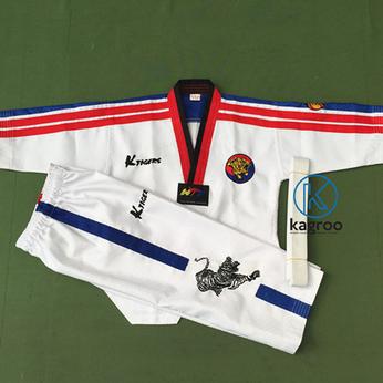 Võ Phục Taekwondo - Hiệu K-Tiger - Vải Kim Cương Vuông